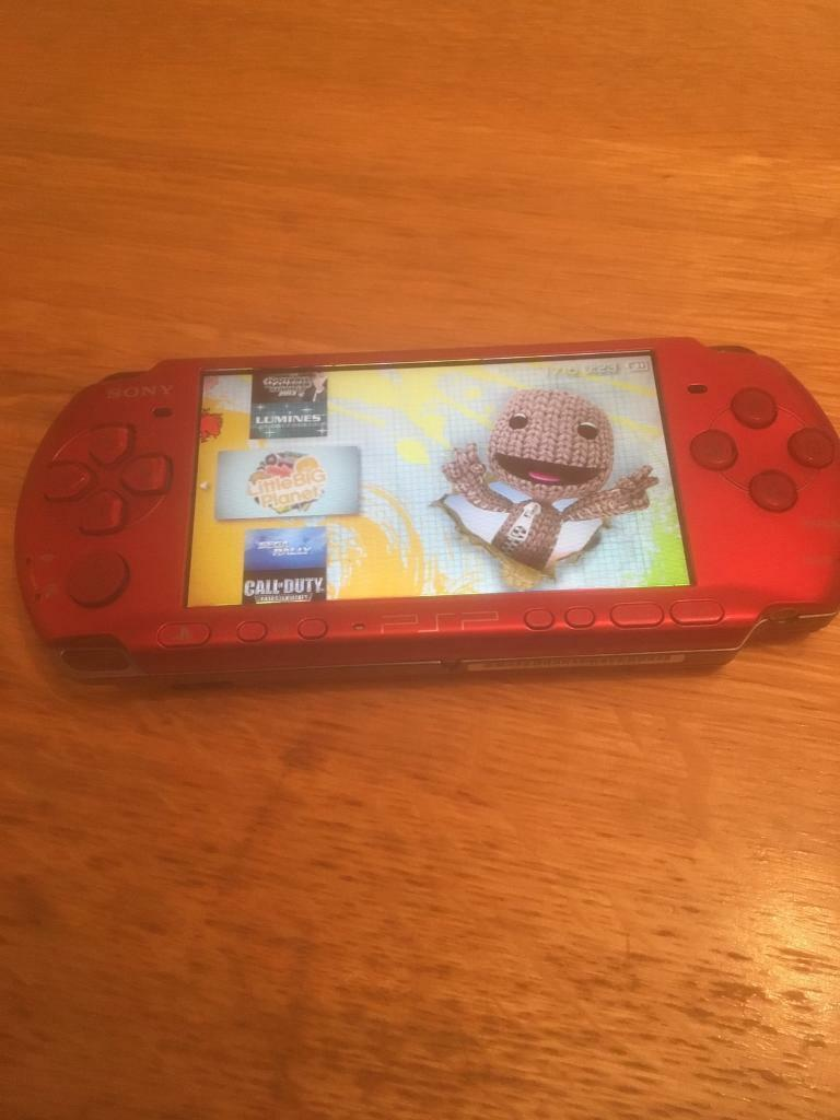 64GB RED PSP SLIM 15,000 GAMES (good condition) | in Ramsbottom, Manchester  | Gumtree