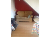 Small two seater sofa, easy care and very comfy