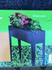 Raised Metal Planter 1000w x 800h x 240mm in Charcoal New in Box