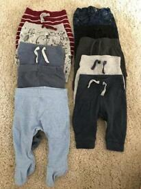 Various 0-3 months boys trousers