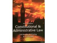 Book Constitutional and Administrative Law by A W Bradley, K D Ewing and C J Knight 16th Edition,
