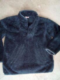Boys navy fluffy jumper (Debenhams) - age 9/10