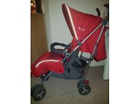 Silver cross reflex stroller in the colour chilli