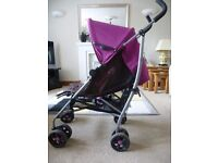 Mamas and Papas Swirl stroller with rain cover