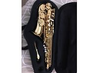 Brand new Trevor James Alto Saxophone for sale, unwanted gift.