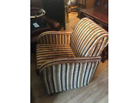 Retro style armchair , does have fire label . Great shape . Chair £150 Free local delivery