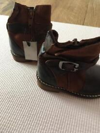 Brand new next infant size 3 leather boots