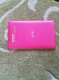 """ACER Iconia 8"""" Smart Tablet 16gb Memory 1gb RAM 1.7ghz Processor Pink with Case"""