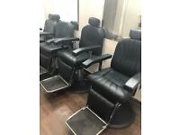 £600. 4 barber chairs all in full working condition recliner works on all chairs