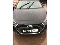 Hyundai i40 CRDi. Blue drive four-door saloon