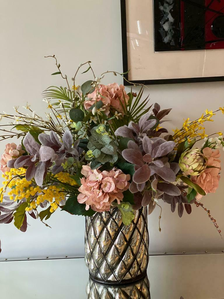 Lovely Floral Artificial Flowers And Vase All Hand Mixed Flowers In Liverpool Merseyside Gumtree