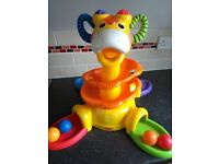 Fisher Price sit to stand musical giraffe ball toy