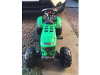 Kids toy sit on tractor & trailer