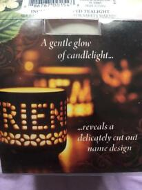 New - tea light candle Holder FREE