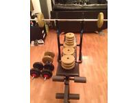 Weights set and bench