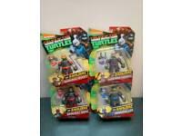 Complete set of 4 samurai teenage mutant ninja turtles NEW