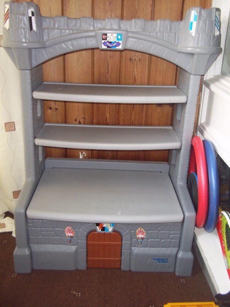 Todays Kids Castle Bookshelf Toybox Like Step 2 Little Tikes