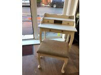 Beautiful Small Burea/Dressing Table with Stool