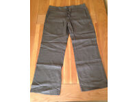 "Next Men's Khaki Linen Trousers (36""R) (never worn) JUST REDUCED"