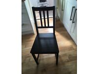 4 ikea black chairs for sale