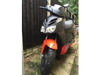 2010 Aprilia 125cc Black/Red Moped