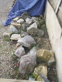 DERBYSHIRE ROCKERY STONES, BOULDERS, POND ORNAMENT, IDEAL FOR GARDEN LANDSCAPING PROJECT