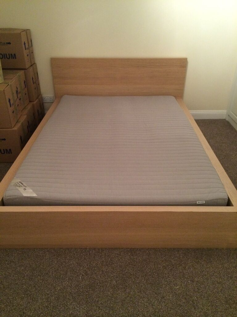 Malm Ikea Double Bed With Ikea Mattress In Southsea Hampshire Gumtree