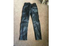 Ladies Motorbike leather trousers