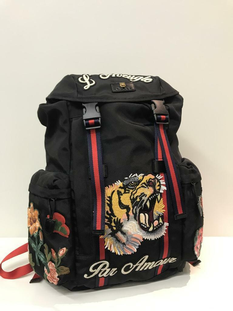 987e90abc74 Gucci Backpack with Embroidery