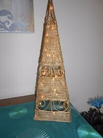 Unusual Gold Pyramid Light for sale