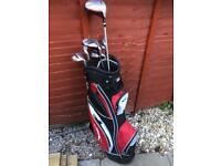 Golf clubs, bag , balls & tees