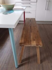 IKEA dining table with coloured legs and cool fish design