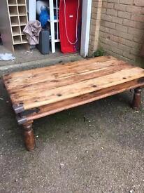 Large Indian Oak Coffee Table