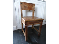 Chair in solid wood