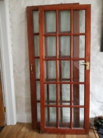 Glazed door - bevelled edge glass