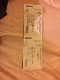 TWO PAPAL MASS TICKETS (SEATED) 26TH AUGUST PHOENIX PARK DUBLIN