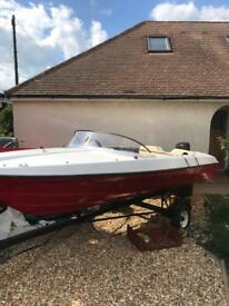 Speed boat/trailer and outboard included