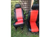 Mercedes vito front and rear seats