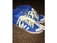 Addidas canvas high tops size 6