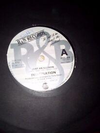 Imagination vinyl record 45 rpm,just an illusion.