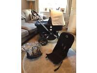 Bugaboo Cameleon 3 Off White/Black Pushchair Single Seat Stroller