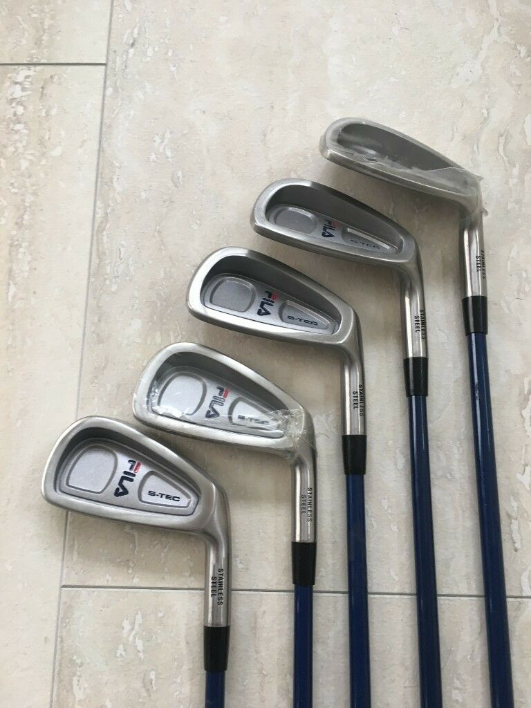 203f345ae897 GOLF CLUBS FILA IRONS - STILL IN SHRINK WRAPPING - NEW UNUSED - HALF SET  COMPRISING 3