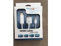 HDMI cable with usb for connection to tv......