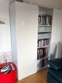 Ikea Single storage unit with Gloss white door and movable shelving