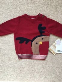 Brand New with tags mamas and papas jumper 0-3months