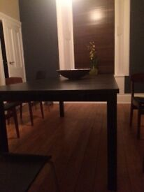IKEA Black/brown dining table