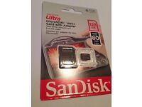 Sandisk micro SDHC card 128GB, new