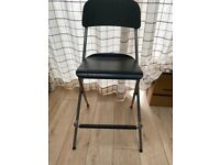 IKEA FRANKLIN Bar stool with backrest foldable black