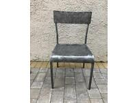 Industrial style metal kitchen chairs