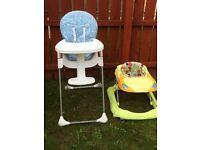 Baby high chair baby walker